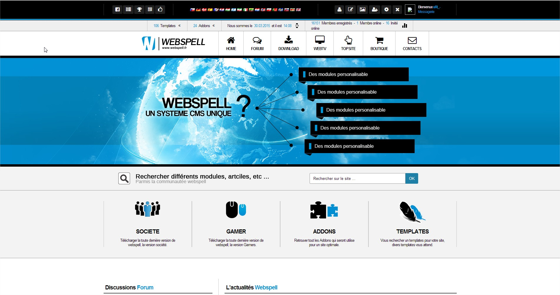 Version 5 de webSPELL.FR